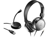ヘッドセット+PCマイク   AT9933USB PACK [φ3.5mmミニプラグ /両耳 /ヘッドバンドタイプ]