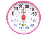 温湿度計 「ルシード」 BC3655(ピンク)【ビックカメラグループオリジナル】