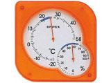温湿度計 「シュクレミディ」 TM-5604(クリアオレンジ)