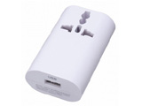 HPM4WH 海外用マルチ変換プラグ(USB1ポート/ホワイト)
