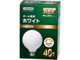 GW100110V38W95L ボール電球40W形ホワイト 長寿命(Φ95mm)