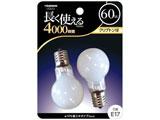 クリプトン電球 (60W/ホワイト・口金E17/2個入) BKP1754F2P 【ビックカメラグループオリジナル】