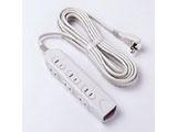 TAPN03150(スリムサイズ/2P6個口/集中スイッチ付/雷サージ/ノイズフィルター内蔵/5m/スイングプラグ/ライトグレー)