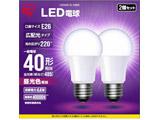 LED電球 E26 広配光 40形相当 昼光色 2個セット LDA4D-G-42BK