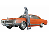 【06月発売予定】 1/24 1966 アメリカン クーペ タイプ B w/ ブロンドガールズフィギュア プラモデル