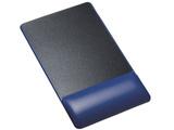 MPDGELPNBL リストレスト付マウスパッド(レザー調素材、高さ標準、ブルー)