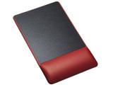 リストレスト付きマウスパッド(レザー調素材、高さ標準、レッド) MPD-GELPNR