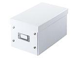 組み立て式CD BOX (CD:25枚/DVD:10枚/Blu-ray:10枚収納)ホワイト FCD-MT3W