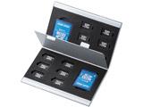 アルミメモリーカードケース(microSDカード用・両面収納タイプ) FC-MMC5MICN2