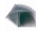 CD/DVD/Blu-ray対応収納ケース (1枚収納×10セット・クリアブラック) FCD-PU10BK