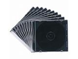 CD/DVD/Blu-ray対応収納ケース (1枚収納×10セット・マットブラック) FCD-PU10MBK