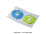 CD/DVD/Blu-ray対応収納スリムトールケース (2枚収納×10セット・クリア) DVD-TU2-10C