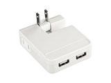 iPad/iPhone/iPod対応 USB充電タップ型ACアダプタ (USB2ポート・ホワイト) ACA-IP25W