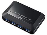 USB3.0ハブ [PantherPoint対応] (4ポート・セルフパワー・ブラック) USB-HGW410BKN