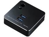 0.15m[USB-C → SDカードスロット / micro SDカードスロット / LAN / USB-Ax2]3.0変換アダプタ ブラック USB-3HC201BK Surfaceペン対応