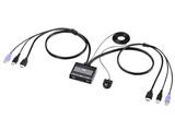 HDMI対応手元スイッチ付きパソコン自動切替器(2:1) SW-KVM2WHU
