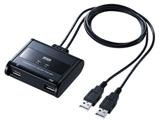 キーボード・マウス用パソコン切替器(2:1) SW-KM2UU