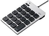 USB2.0ハブ付テンキー(シルバー) NT-M18UHSV