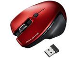 ワイヤレスマウス[BlueLED・2.4GHz・USB] 超小型レシーバー搭載(5ボタン・レッド) MA-SW1R [無線マウス・ブルーLED方式]