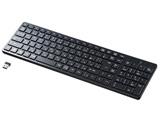 ワイヤレスキーボード[2.4GHz・Win]テンキーあり(108キー・日本語)ブラック SKB-WL26BK