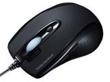 MA-IR125BK 有線IR LEDマウス[ダブルクリックボタン付き・ブラック]