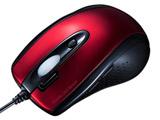 MA-IR125R 有線IR LEDマウス[ダブルクリックボタン付き・レッド]