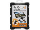 8.9〜11.6インチタブレット用[横幅 240〜285mm] 耐衝撃シリコンケース ブラック PDA-TABH4BK