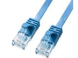KB-FL6A-05BL LANケーブル ブルー [5m /カテゴリー6A /フラット]