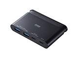 USB-3TCH17BK USB3.1 Gen2対応 Type-Cハブ[USB Aポート×2・Type-Cポート×2]
