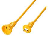 電源延長コード 防雨・屋外可能 (2P・1個口・5m・イエロー) TAP-EX12B-5Y