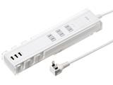 TAP-B46W USBポート付き便利タップ(2P・3個口・ホワイト)