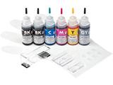 INK-C326S30S6 詰め替えインク(キヤノン BCI-325PGBK・326BK・C・M・Y・GY対応/6色セット/30ml) [工具付き]