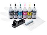 INK-C351S30S6 [キヤノン:BCI-350PGBK/351BK/351C/351M/351Y/351GY(6色)対応]詰め替えインク(専用工具付)