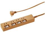 1.0m [4個口] 節電タップ 木目調 HS-TP41A42WO