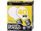 白熱電球 E26 40W ホワイト 2個入