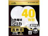 白熱電球 E26 40形相当 シリカ(白) 2個入 長寿命 LB-DL5638W-B2P
