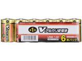 【単1形】 6本 アルカリ乾電池 「Vシリーズ」 LR20/S6P/V