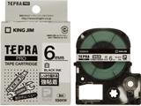 SS-6KW (テプラPROテープカートリッジ  白テープ/黒文字/6mm)
