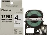 SS-4K (テプラPROテープカートリッジ  白 黒文字 4mm)