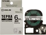 ST-6K (テプラPROテープカートリッジ  透明ラベル黒文字6mm)