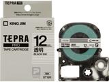 ST-12K (テプラPROテープカートリッジ  透明/黒文字/12mm)
