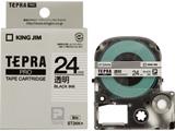 ST-24K (テプラPROテープカートリッジ  透明/黒文字/24mm)