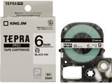 SS-6K (テプラPROテープカートリッジ  白 黒文字 6mm)