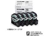 白ラベルテープ 「テプラPRO」(白テープ/黒文字/12mm幅・5個パック) SS12K-5P