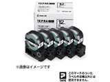 白ラベルテープ 「テプラPRO」(白テープ/黒文字/18mm幅・5個パック) SS18K-5P