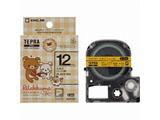 ラベルライター用テープ (たまご(チェック黄)/黒文字/12mm幅) SGR12EY