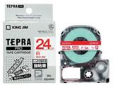 テプラ 強粘着ラベル (白テープ/赤文字/24mm幅) SS24RW