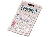 本格実務電卓 (12桁) JS-20WK-PK(ピンク)