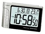 DQD-240J-8JF(シルバー) wave ceptor 電波時計 デスクトップクロック 温度計付き