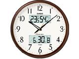 ITM-650J-5JF メタリックブラウン 電波掛時計 生活環境お知らせクロック